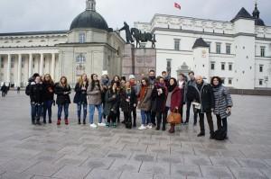 With friends in Vilnius