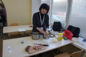 Preparing traditional food Slovakia