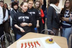 Presenting Easter coloured eggs Slovakia