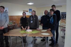 Presenting traditional cake United Kingdom