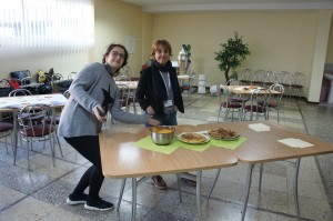 Presenting traditional food Spain