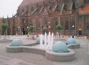 wrocaw fontanna przy kociele pw w marii magdaleny
